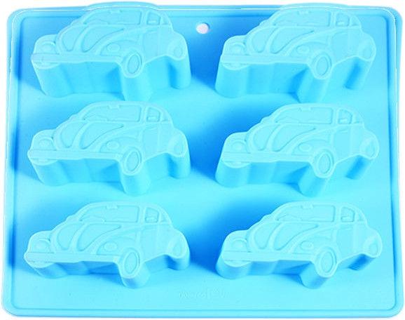 Fissman Baking Form Auto WW Beetle Silicone 22x20x2.5cm Light Blue 6544