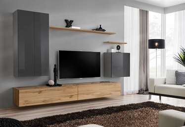 ASM Switch II Wall Unit Graphite/Wotan Oak