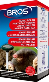 Bros Sonic Mole Repellent With Sun Batteries 1pcs