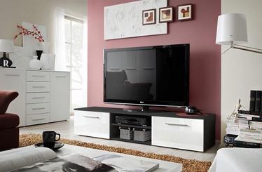 ТВ стол ASM Bono II Black/White Gloss, 1800x450x350 мм