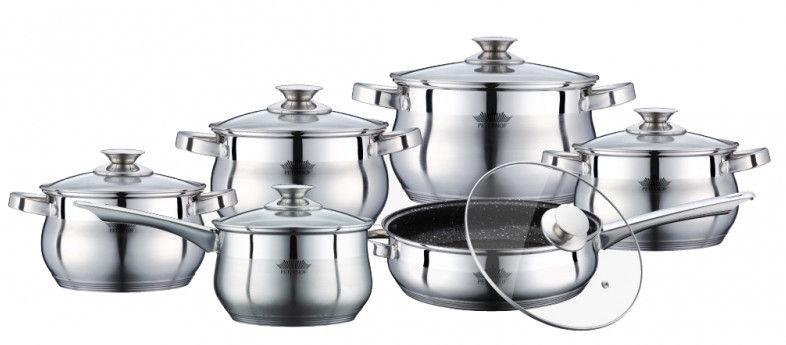 Peterhof Apollo Cookware Set 12pcs PH-15774