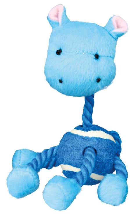 Mänguasi koerale Trixie Animals With Tennis Ball & Rope, 4 tk, 16 cm