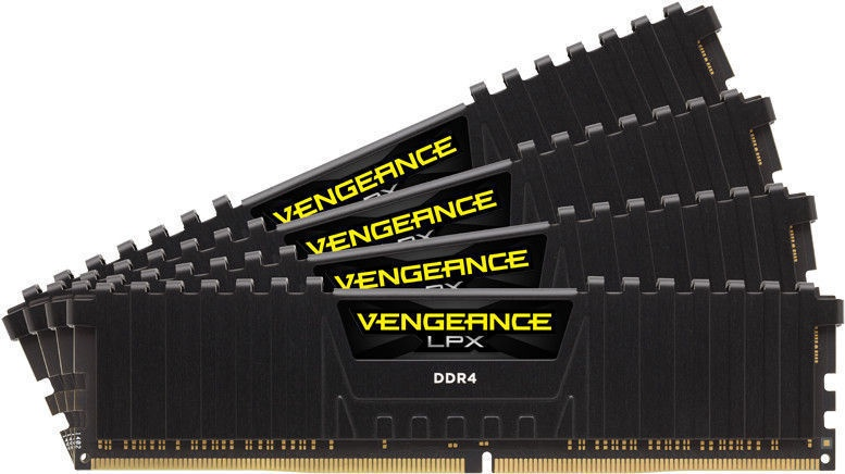 Corsair Vengeance LPX Black 16GB 3733MHz CL17 DDR4 KIT OF 4 CMK16GX4M4B3733C17