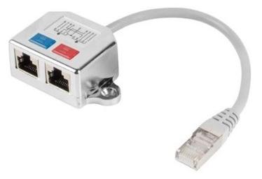 Lanberg Adapter FTP RJ45 to 2x RJ45