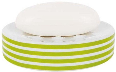 Spirella Soap Dish Tube Stripes Green