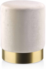 Пуф Mondex Emily, золотой/песочный, 30x30x39 см