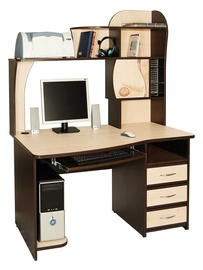 DaVita Orion 3.11 Desk Wenge Oak/Tanzai Maple
