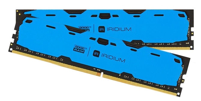 GoodRam IRIDIUM Blue 16GB 2400MHz CL15 DDR4 DIMM KIT OF 2 IR-B2400D464L15S/16GDC