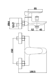 Thema Lux DF11603 Bath Faucet
