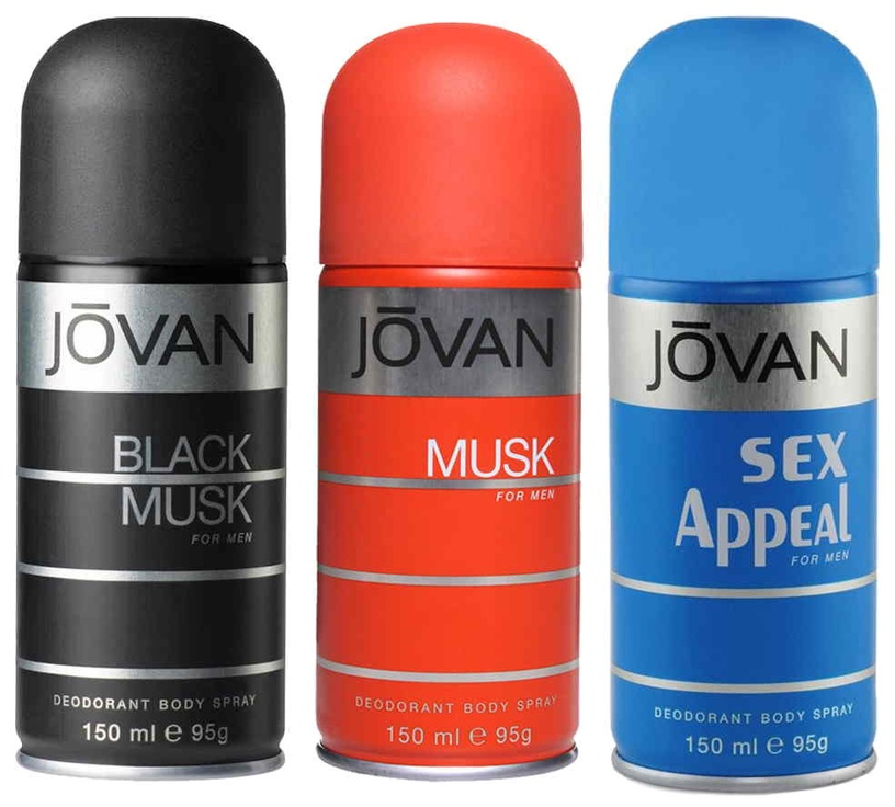 Jovan Black Musk Men Deodorant Body Spray 150ml