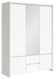 Гардероб Black Red White Kaspian Matt White, 153.5x55.5x211 см, с зеркалом