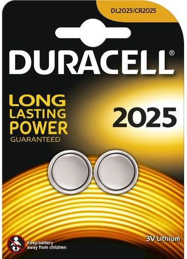 Duracell CR2025 Lithium Battery x2