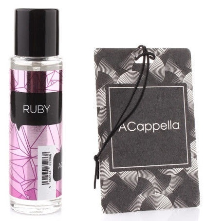 "ACapella Car Air Freshener 2in1 Spray Plus Pendant Card ""Ruby"" 50ml"