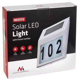 Maclean Wall Solar LED Lamp MCE172 White