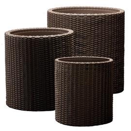 Keter Cylinder Planters 3pcs Brown