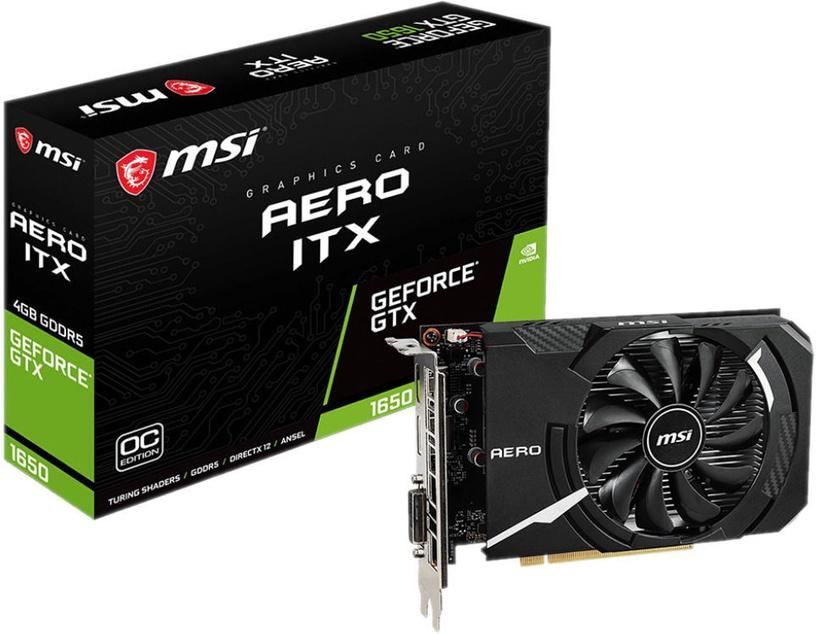 MSI GeForce GTX 1650 AERO ITX OC 4GB GDDR5 PCIE GTX1650AEROITX4GOC