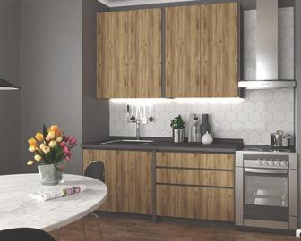 Кухонный гарнитур Halmar Idea, дубовый/антрацитовый, 1.8 м