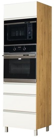 Bodzio Monia High Rise Oven Microwave Cabinet White/Brown