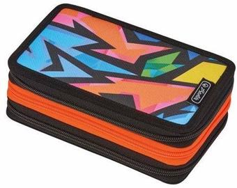 Herlitz 3 Side Pencil Case Neon Art