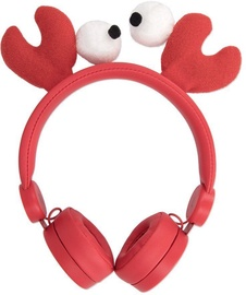 Forever AH-100 Universal Over-Ear Headphones for Children Craby Red