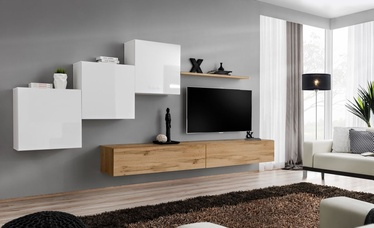 ASM Switch X Wall Unit White/Wotan Oak