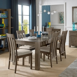 Home4You Turin Dining Room Set 6 Chairs Oak
