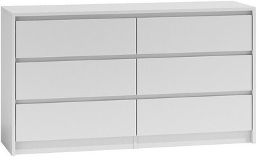 Top E Shop Karo K140 Chest of 6 Drawers White