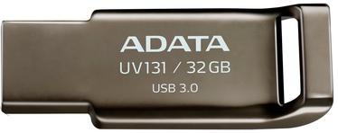 USB mälupulk ADATA UV131 Grey, USB 3.0, 32 GB