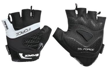 Force Rab Gel Short Gloves White/Black XL