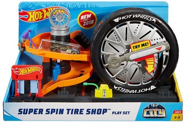 Mattel Hot Wheels City Super Spin Tire Shop Play Set FNB15