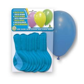 SN Pastel Opaque Balloons 12pcs Blue