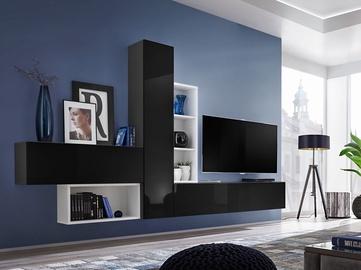 ASM Blox IV Living Room Wall Unit Set Black/White
