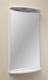 Peegel MN Kersa 03 White, valgustusega, riputatav, 46.8x75 cm