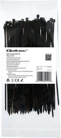 Qoltec Zippers Nylon UV 2.5x100mm 100pcs. Black