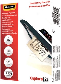 Fellowes A6 Glossy 125 Micron Laminating Pouch - 100 pack
