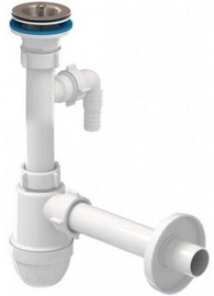 Ani Plast 1 1/4'' Siphon with Outlet/Hard Pipe 200mm 32mm