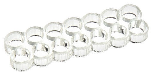 E22 Stealth Cable Comb 14 Slots 4mm Clear
