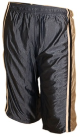 Bars Mens Basketball Shorts Black/Gold 184 S