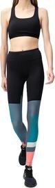 Audimas Womens Printed Shaping Tights Black Green Grey XL