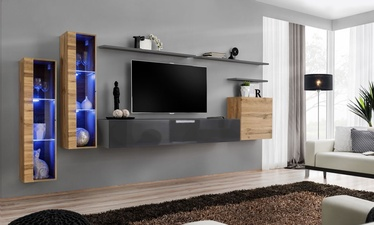 ASM Switch XI Wall Unit Wotan Oak/Graphite