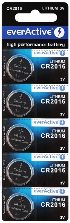 EverActive CR2016-5BB Batteries 5x