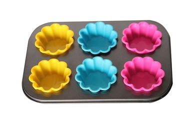Muffinivorm silikoonvormidega  26,5x18x2 cm