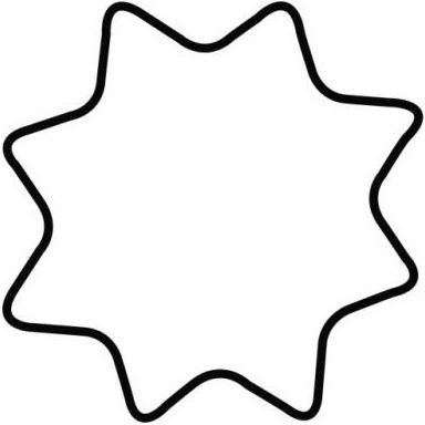 "Kaiser Gingerbread/Cookie Form S ""Star, 8-corner"" 4cm"