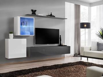 ASM Switch XV Living Room Wall Unit Set Graphite/White