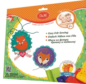 Revontuli D&M Easy Felt Sewing Brooch And Pendant Fox 62011