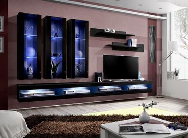 ASM Fly Q8 Living Room Wall Unit Set Black