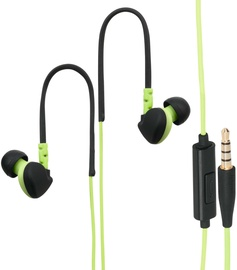 "Hama ""Run"" Clip-On Sport Earphones Black/Green"