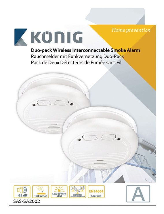 Konig SAS-SA2002 Connectable Smoke Detector