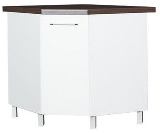 Bodzio Loara Bottom Corner Cabinet With Basket White