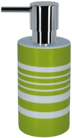 Spirella Soap Dispenser Tube Stripes Green